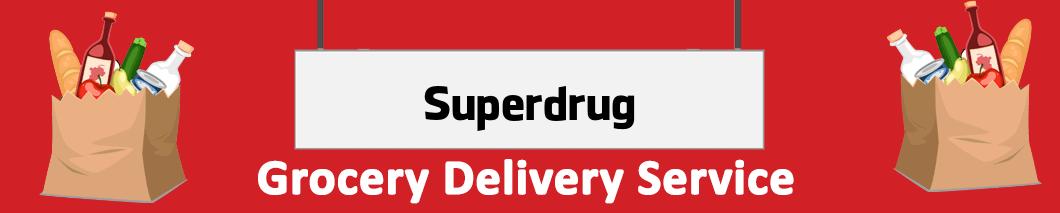 grocery delivery Superdrug